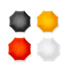 realistic detailed 3d sun umbrella set vector image