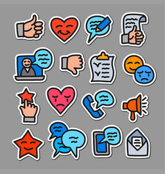 relationship management stickers vector image