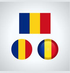 Romanian trio flags vector