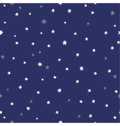 Seamless background with stars vector image