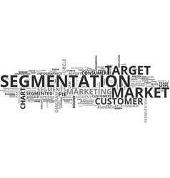 Segmentation word cloud concept vector