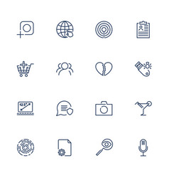 simple different ui icons for app sites programs vector image