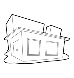 Small house icon outline style vector image