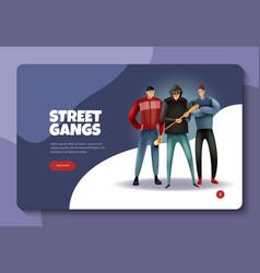 social crime concept banner vector image