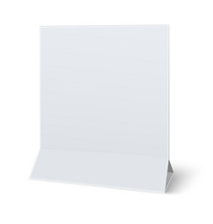 Square blank paper table card isolated paper vector