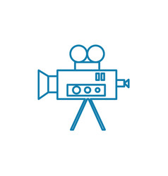 television industry linear icon concept vector image
