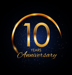Template logo 10 year anniversary vector