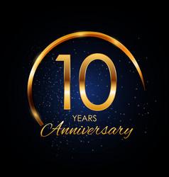 Template logo 10 year anniversary vector