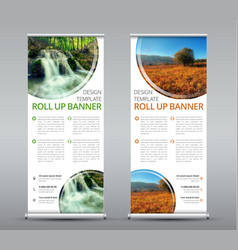 Template of a vertical roll up banner for vector