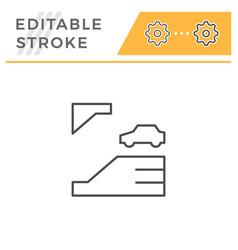 underground parking editable stroke line icon vector image