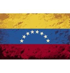 Venezuelan flag Grunge background vector