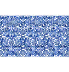 Vintage indigo dyed seamless pattern traditional vector