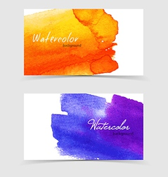 Watercolor design cards vector image