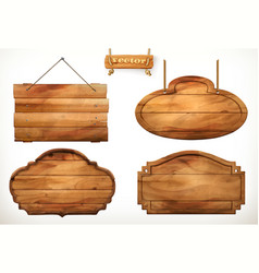 Wooden board old wood set vector