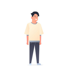 young asian guy wearing casual clothes happy vector image