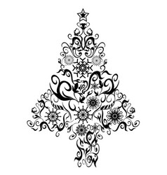 black decor xmas tree vector image