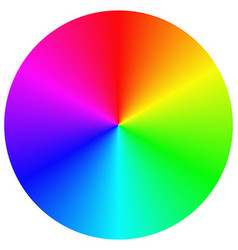 Gradient rainbow circle design vector image