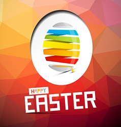Happy Easter with Abstract Colorful Egg on T vector image vector image