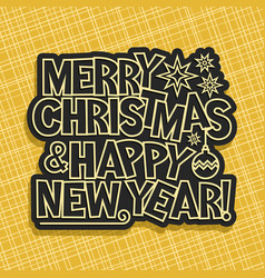 merry christmas and new year vector image