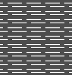 Monochrome pattern with white horizontal brick vector