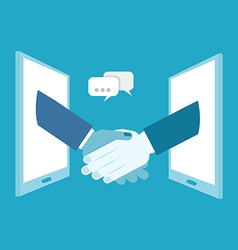 Shake hands business vector image vector image