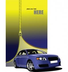 zipper car vector image