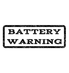 Battery warning watermark stamp vector