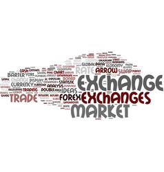 exchanges word cloud concept vector image vector image