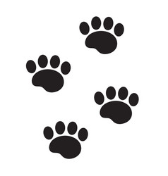 foot marks of an animal icon flat cartoon style vector image