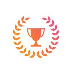 gradient pink to orange award prize cup vector image