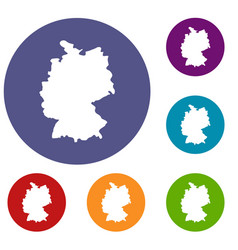 map of germany icons set vector image vector image