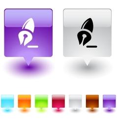 pen square button vector image vector image