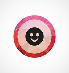 smile circle pink triangle background icon vector image vector image