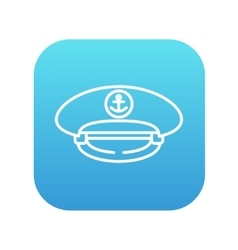 Captain peaked cap line icon vector image
