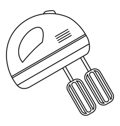 Hand mixer icon outline style vector image