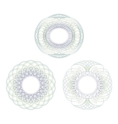 Intricate rosettes vector