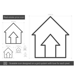real estate price line icon vector image