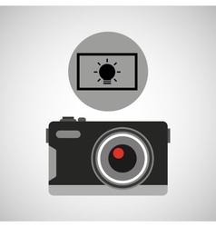 retro camera photographic light effect vector image