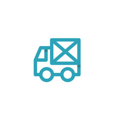 car icon mail envelope on the back logos vector image vector image