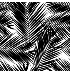Palm Tree Leaves Seamless Pattern vector image vector image