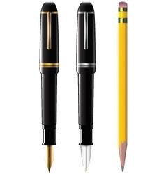 pencil pen fpen vector image