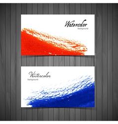 Watercolor design cards vector image