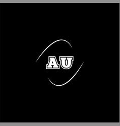 A u letter logo creative design on black color vector