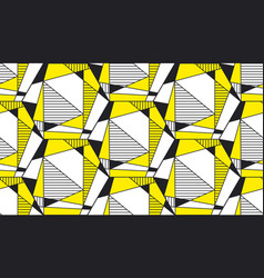 abstract geometric shapes flat seamless pattern vector image