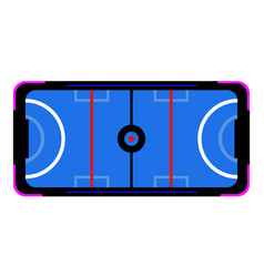 Air hockey table vector