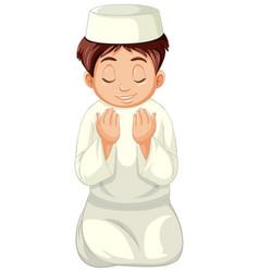 Arab muslim boy in traditional clothing vector