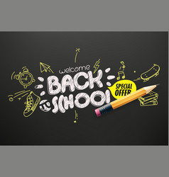 back to school special offer banner vector image