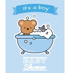 Bear in the bath vector