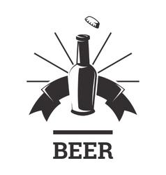 Beer insignia badge vector