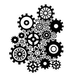 black gears background vector image